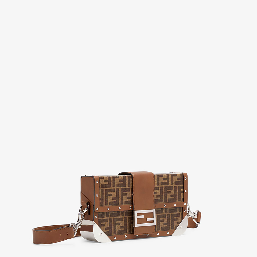 FENDI BAGUETTE TRUNK MEDIUM - Brown fabric bag - view 2 detail