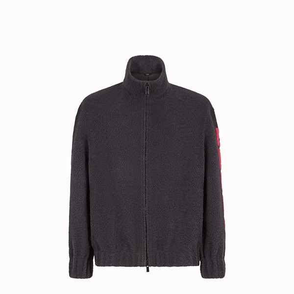FENDI BLOUSON JACKET - Jacket in grey shearling - view 1 small thumbnail