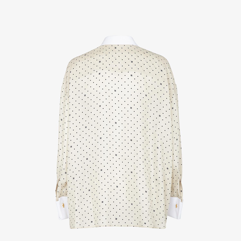 FENDI SHIRT - White satin crêpe shirt - view 2 detail