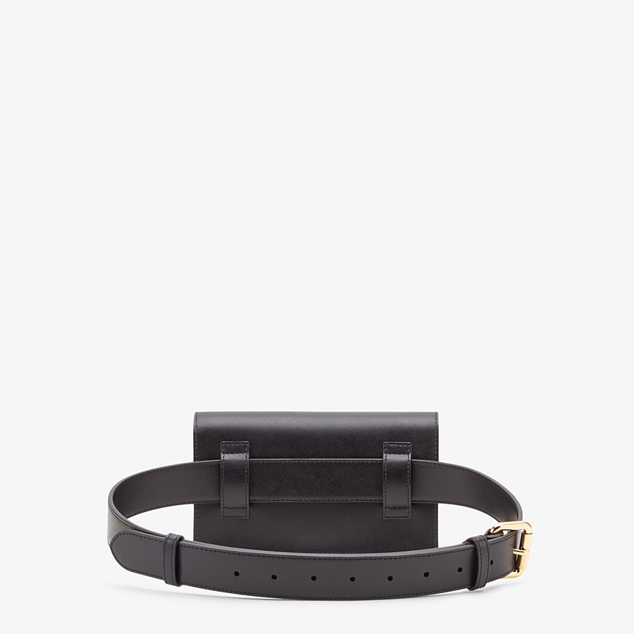 FENDI BELT BAG - Black leather belt bag - view 4 detail