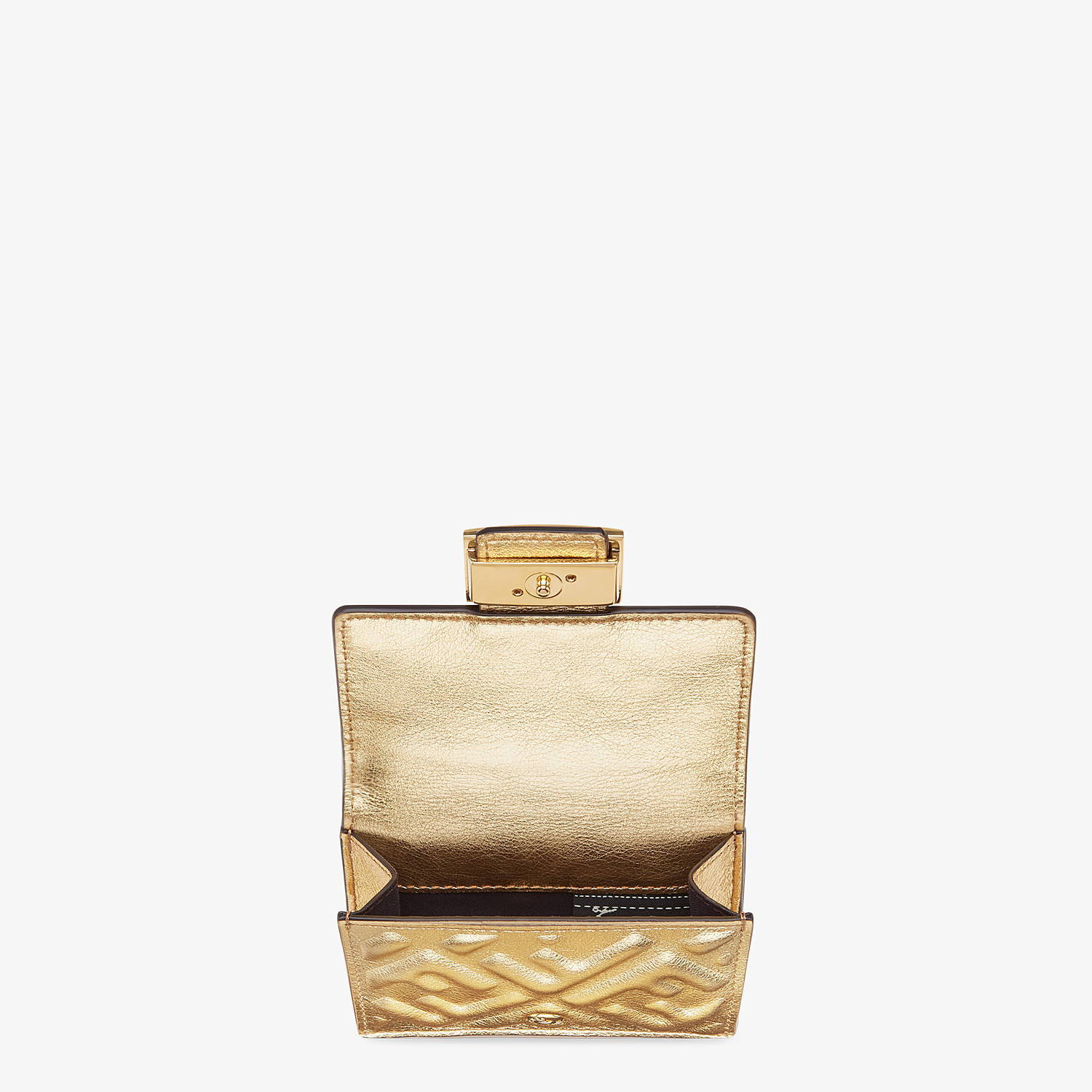 FENDI MICRO TRIFOLD - Wallet in golden leather - view 3 detail