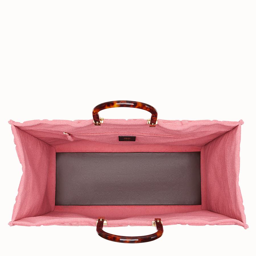 FENDI SUNSHINE SHOPPER - Pink terry shopper - view 5 detail