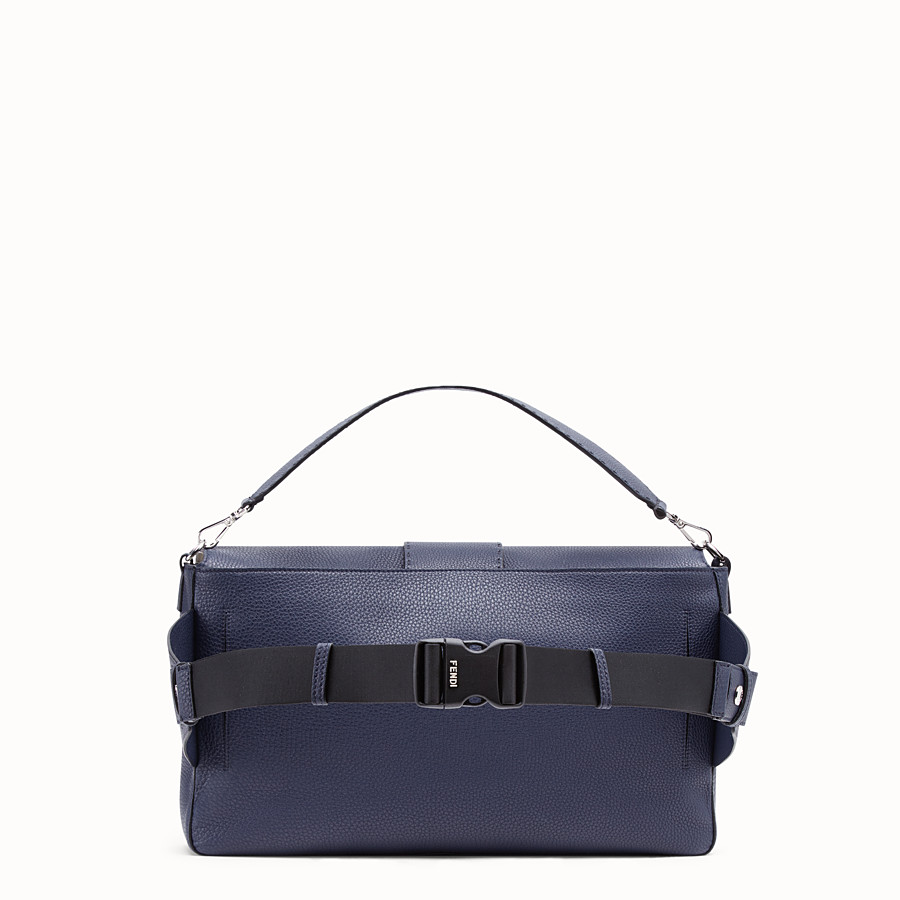 FENDI BAGUETTE - Blue leather bag - view 3 detail