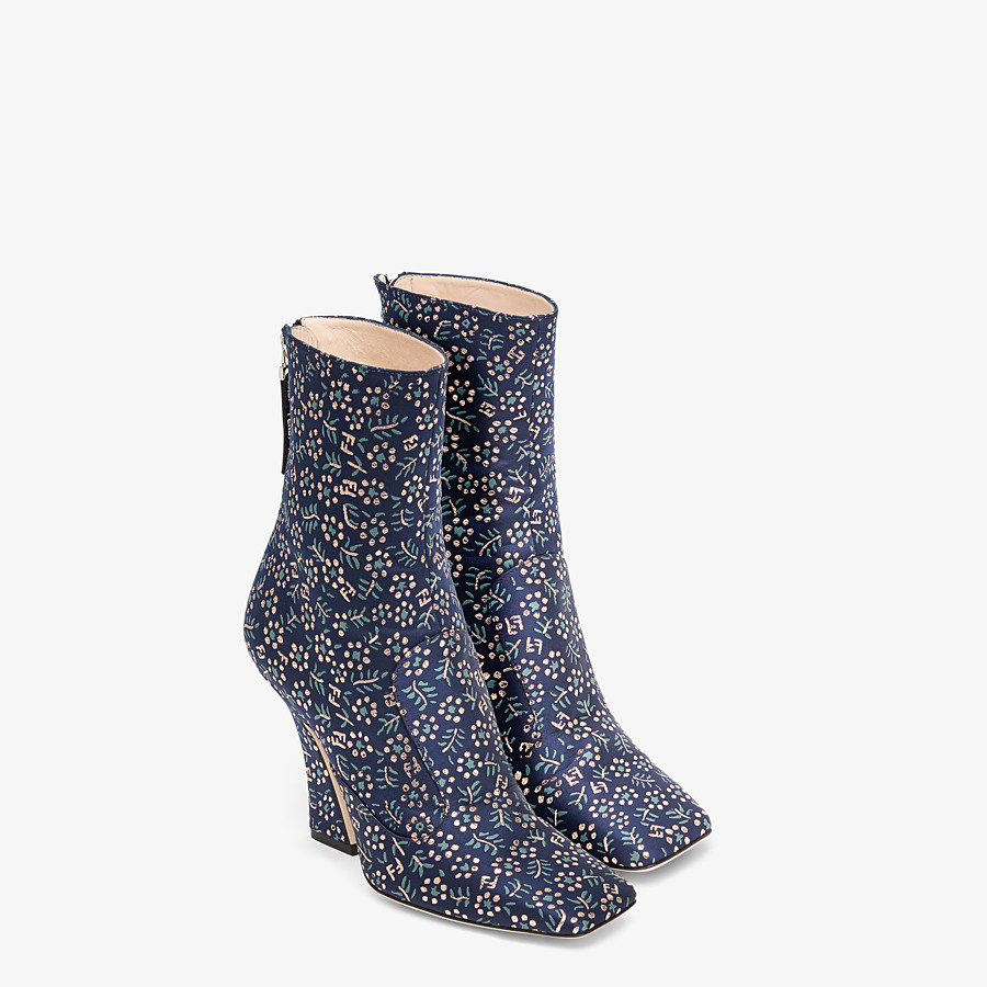 FENDI ANKLE BOOTS - Multicolor fabric booties - view 4 detail