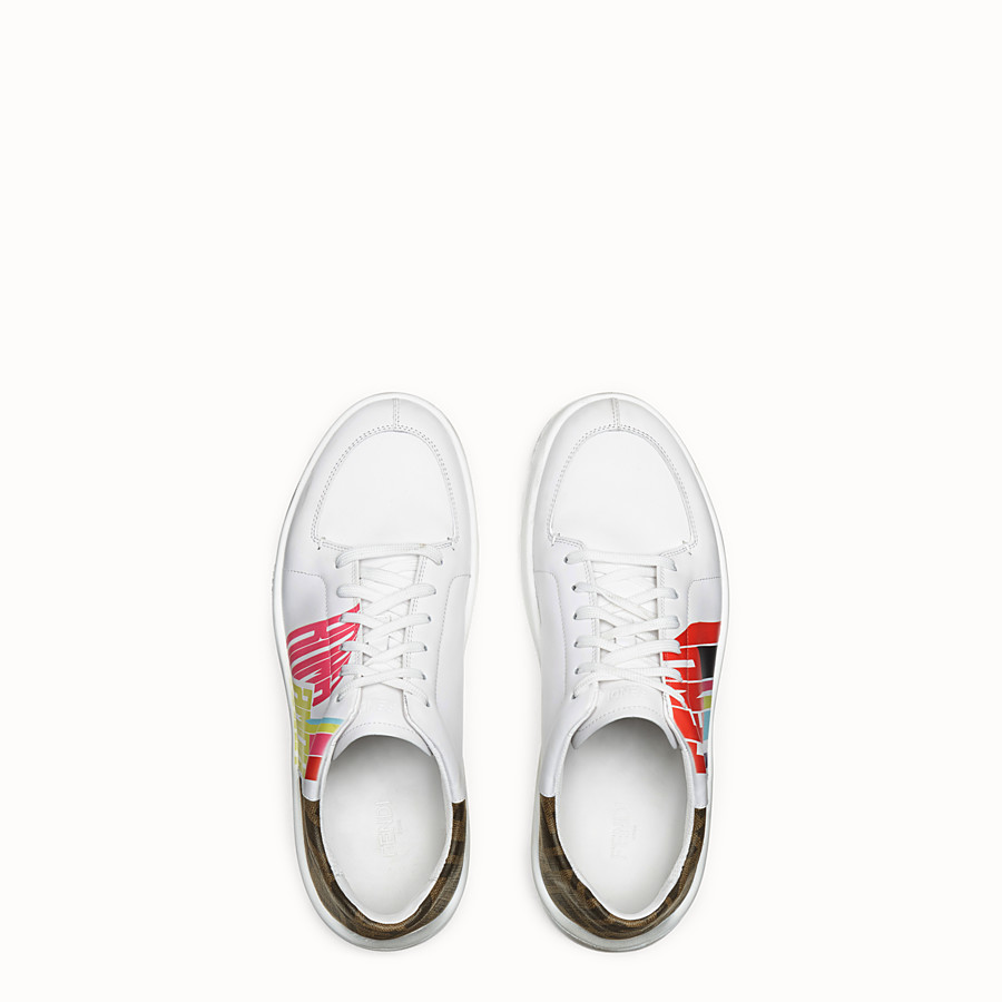 FENDI SNEAKERS - Fendi Roma Amor leather low-tops - view 4 detail