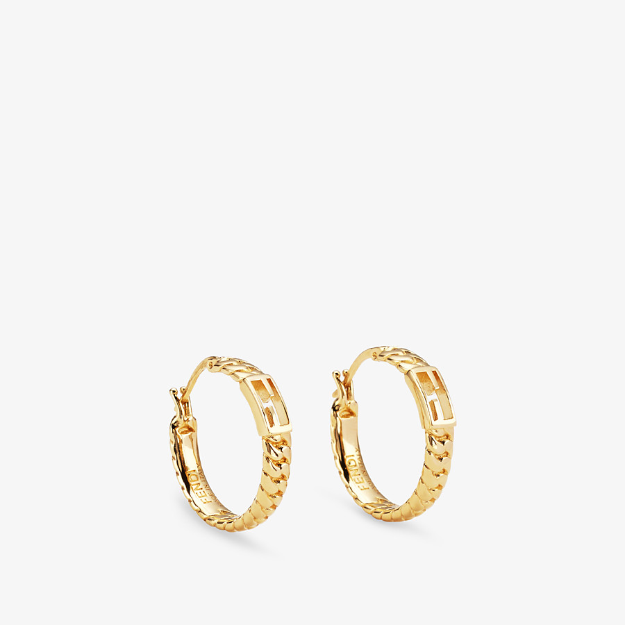 FENDI BAGUETTE SMALL EARRINGS - Gold-color earrings - view 1 detail