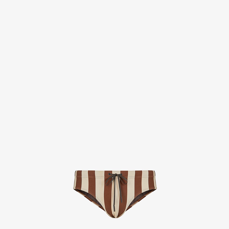 FENDI SWIM BRIEFS - Multicolor Lycra® swimsuit - view 1 detail