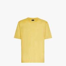 FENDI T-SHIRT - Yellow silk T-shirt - view 2 thumbnail