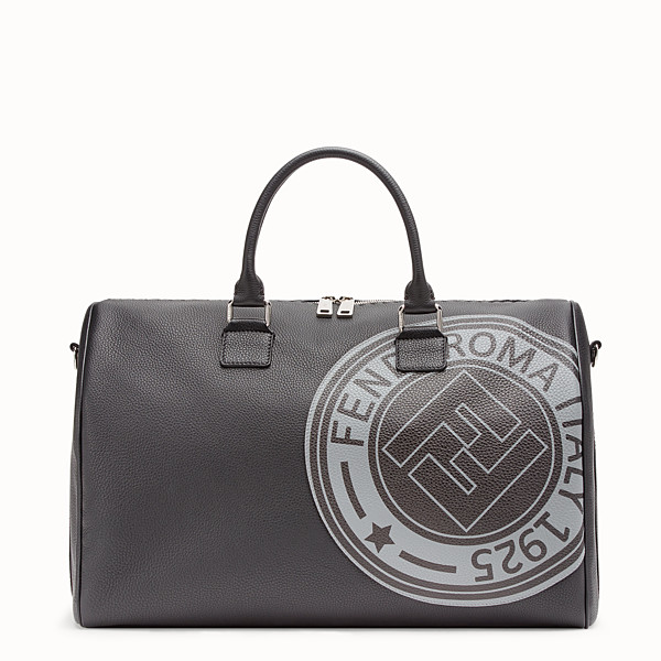 FENDI DUFFLE BAG - Black leather holdall bag - view 1 small thumbnail
