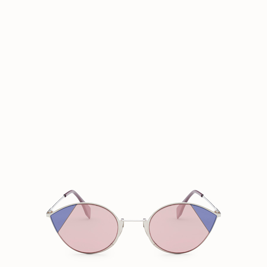 FENDI CUT-EYE - Silver-colour sunglasses - view 1 detail