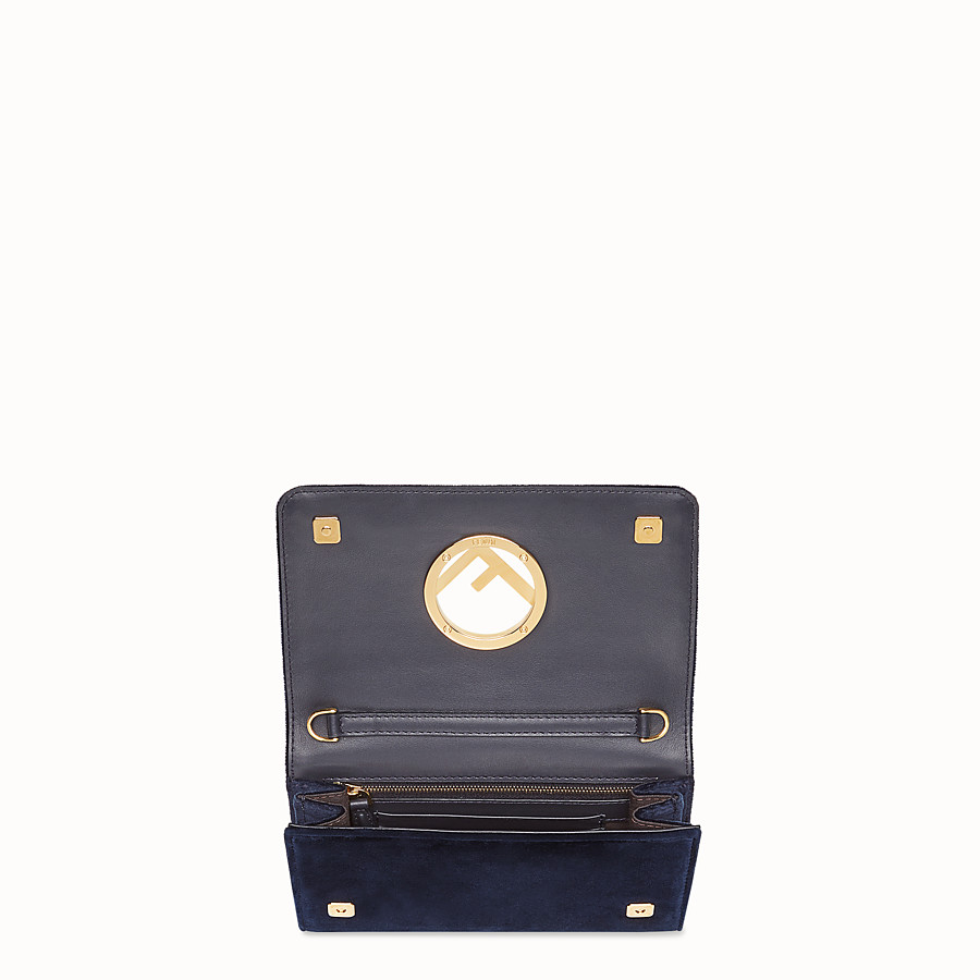 FENDI WALLET ON CHAIN - Blue velvet mini-bag - view 4 detail