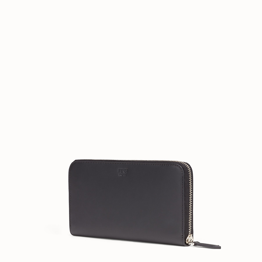 FENDI WALLET - Black leather zip-around - view 2 detail