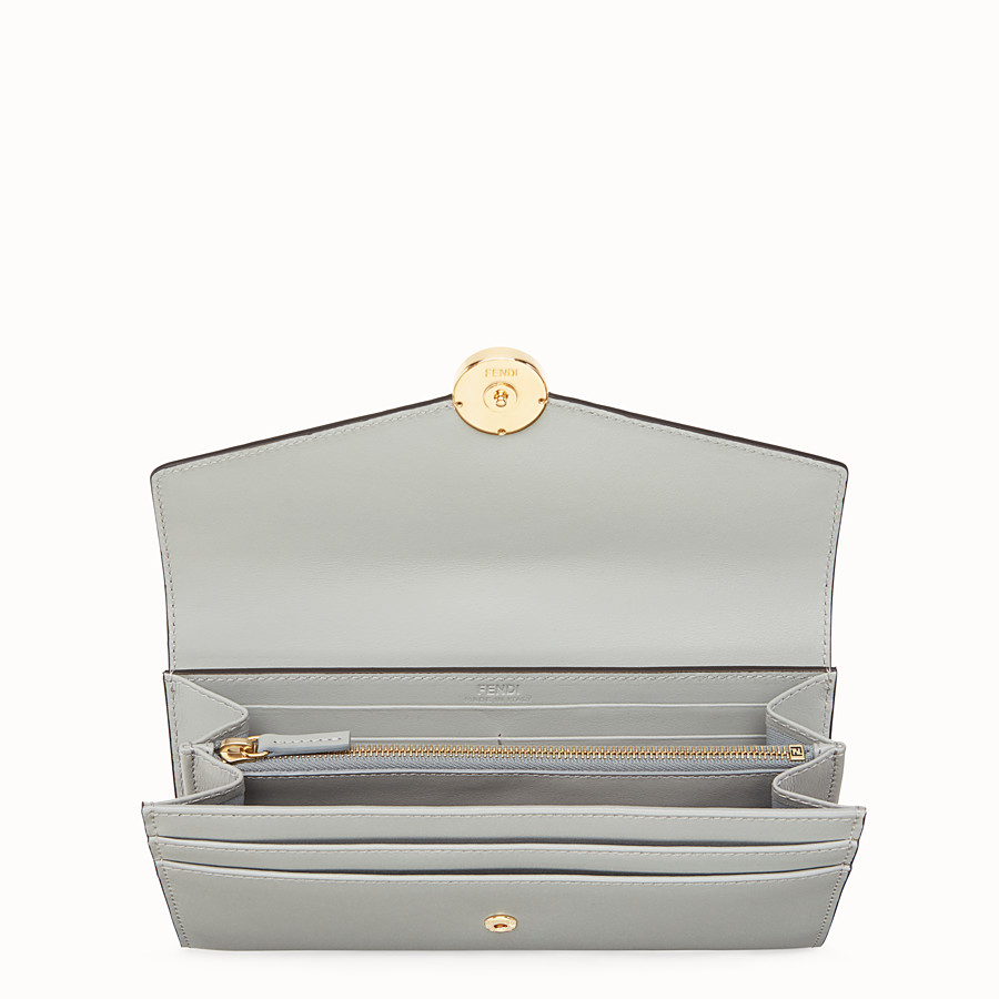 FENDI CONTINENTAL - Grey leather wallet, exotic details - view 4 detail