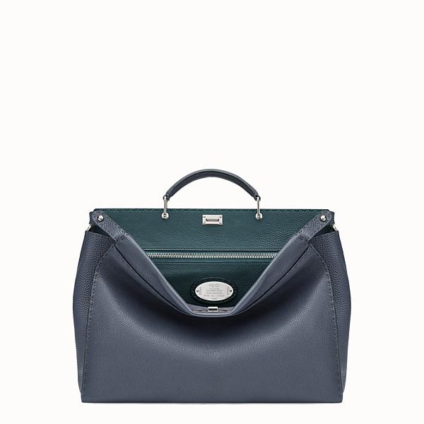FENDI PEEKABOO - Blue leather Selleria handbag - view 1 small thumbnail