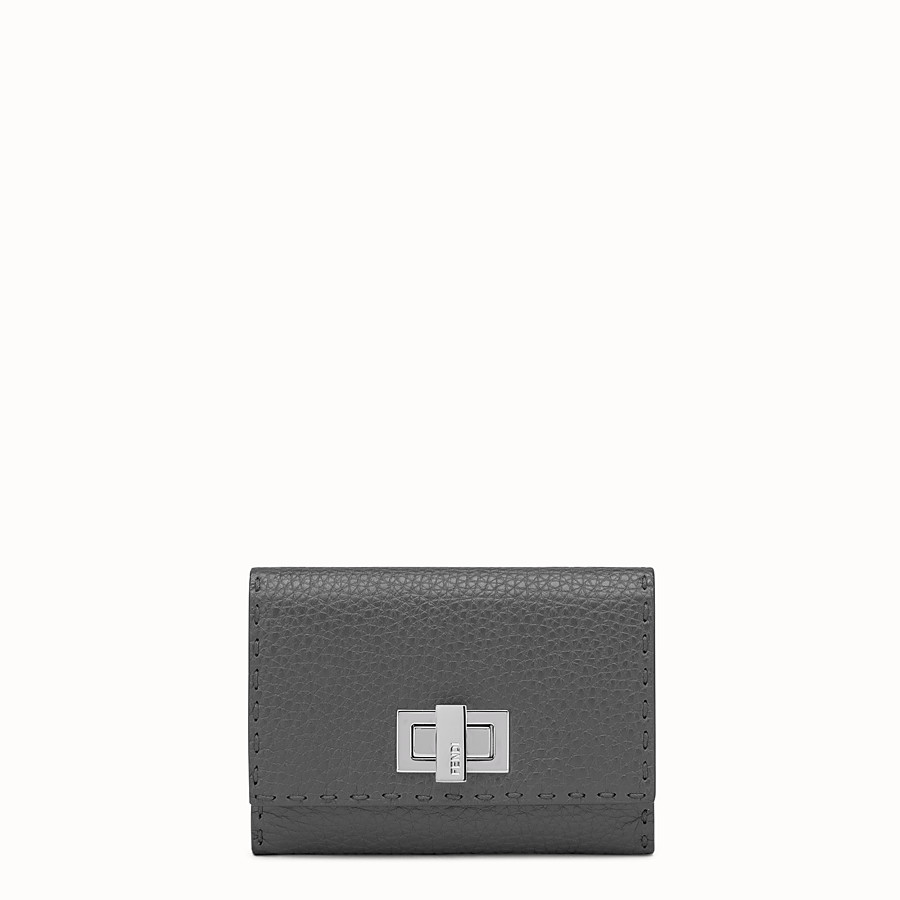 FENDI WALLET - Grey Roman leather wallet - view 1 detail