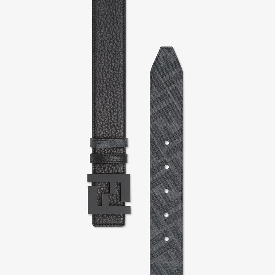 FENDI BELT - Black leather belt - view 3 detail