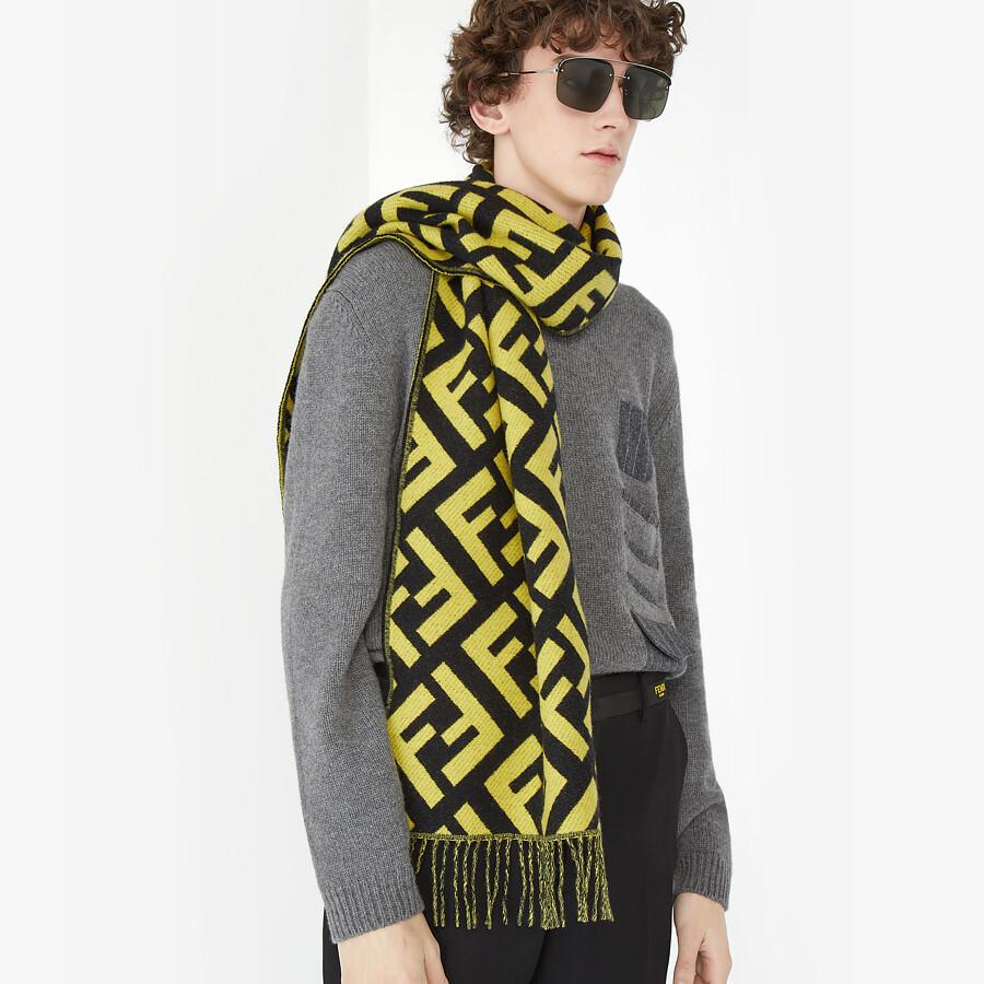 FENDI SCARF - Multicolor cashmere scarf - view 3 detail