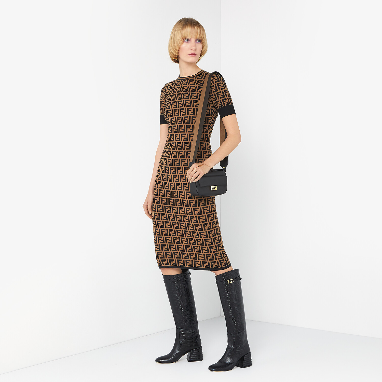 FENDI DRESS - FF motif fabric dress - view 4 detail