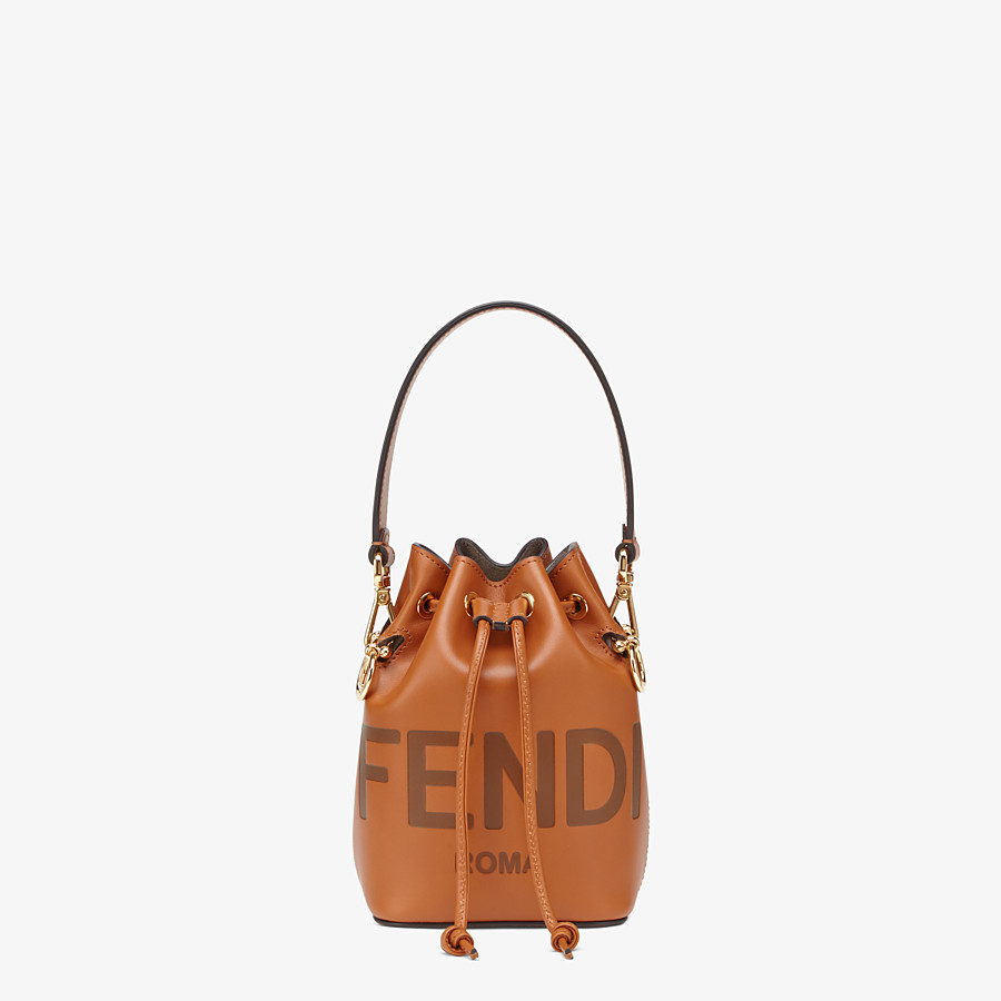 FENDI MON TRESOR - Brown leather mini-bag - view 1 detail