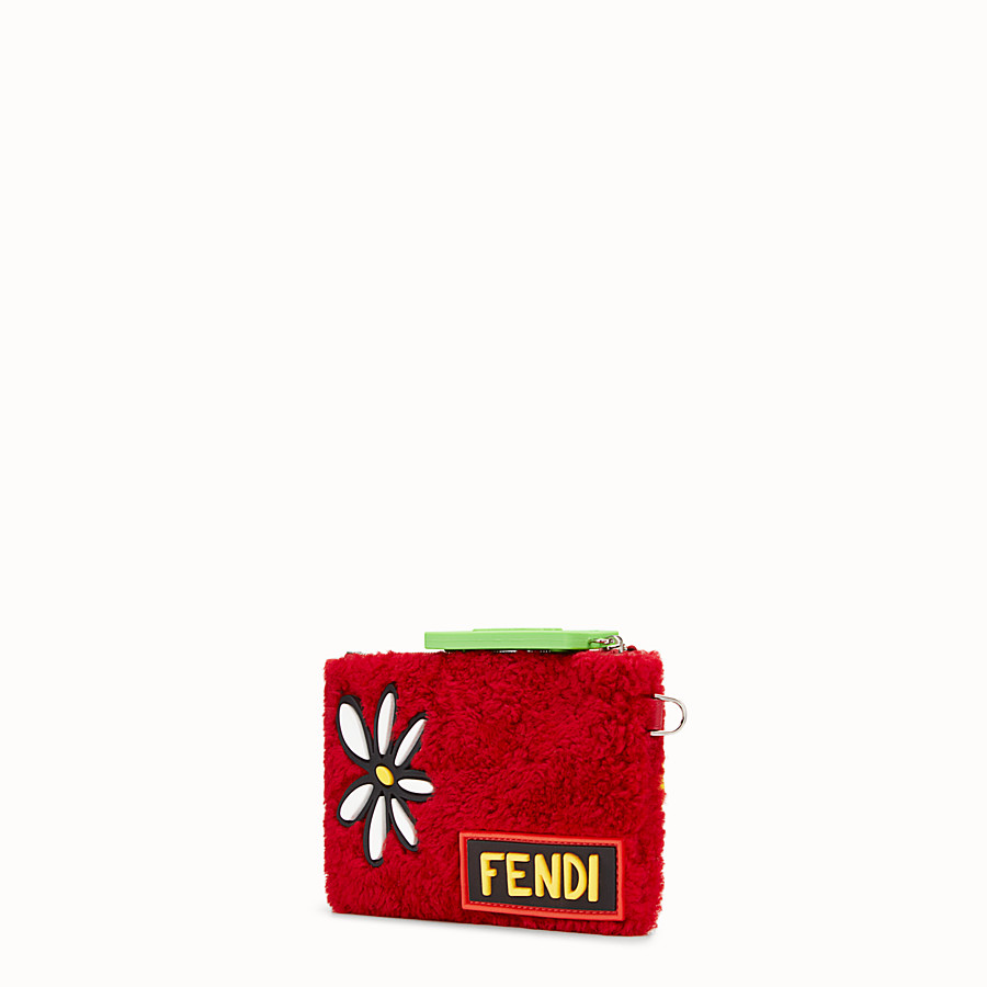 FENDI 手拿包 - 紅色羊皮扁形手拿包 - view 2 detail