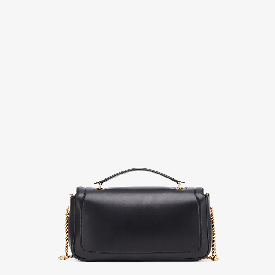 FENDI BAGUETTE CHAIN - Black nappa leather bag - view 4 detail
