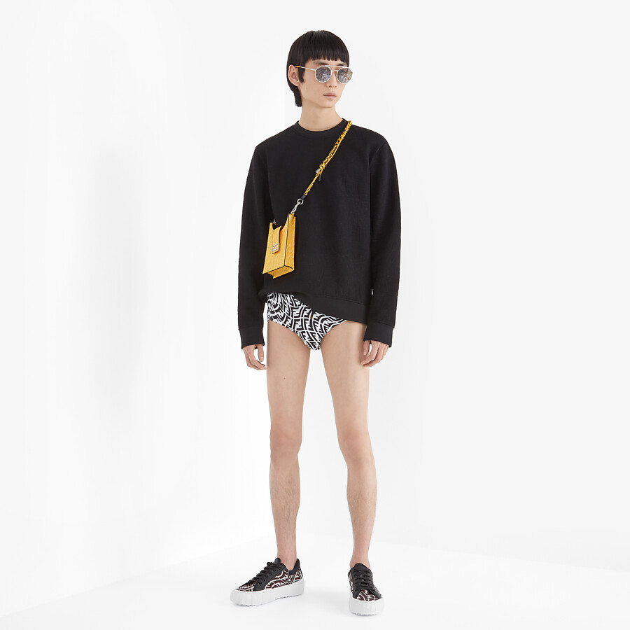 FENDI SWEATSHIRT - Black neoprene sweatshirt - view 4 detail