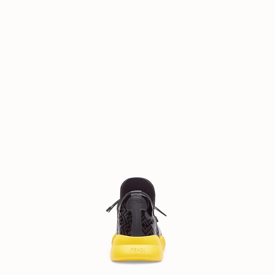 FENDI SNEAKER - High top in tessuto e vernice nera - vista 3 dettaglio