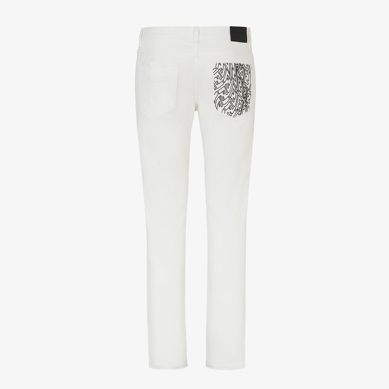 FENDI DENIM - White denim jeans - view 2 detail