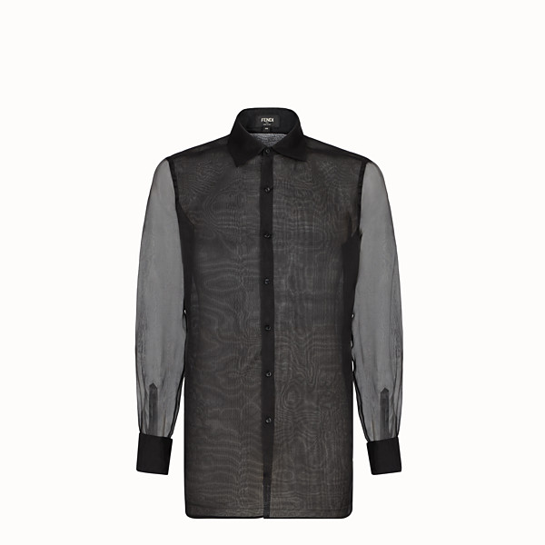 FENDI SHIRT - Black organza shirt - view 1 small thumbnail