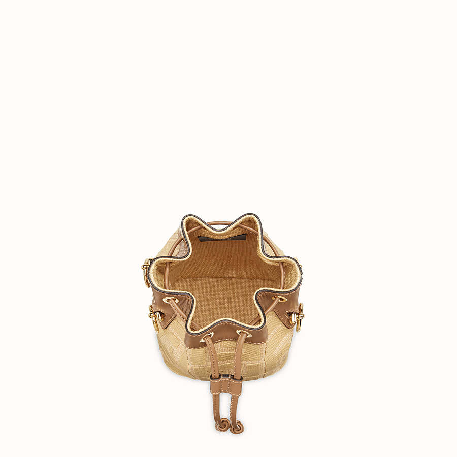 FENDI MON TRESOR - Beige raffia mini bag - view 5 detail
