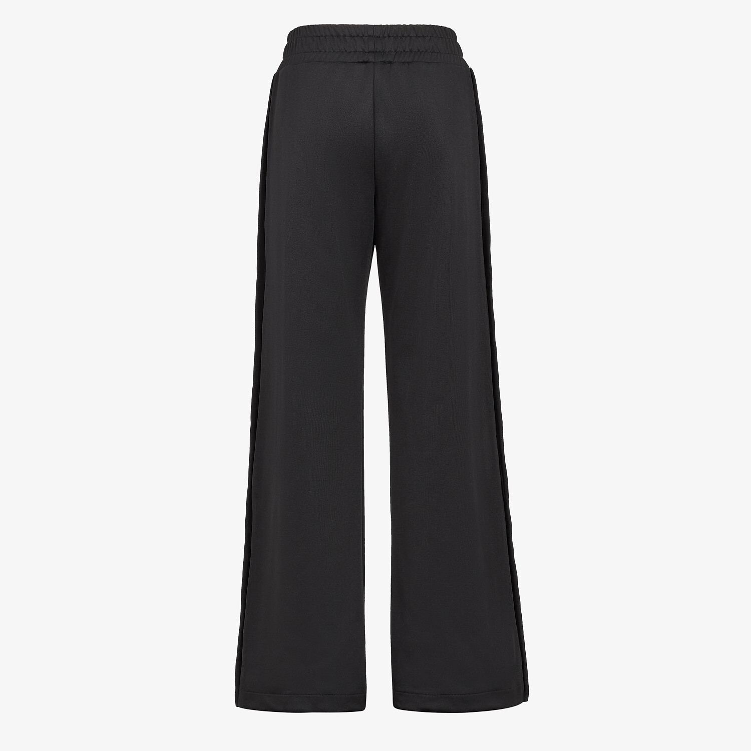 FENDI PANTS - Black piqué jersey pants - view 2 detail