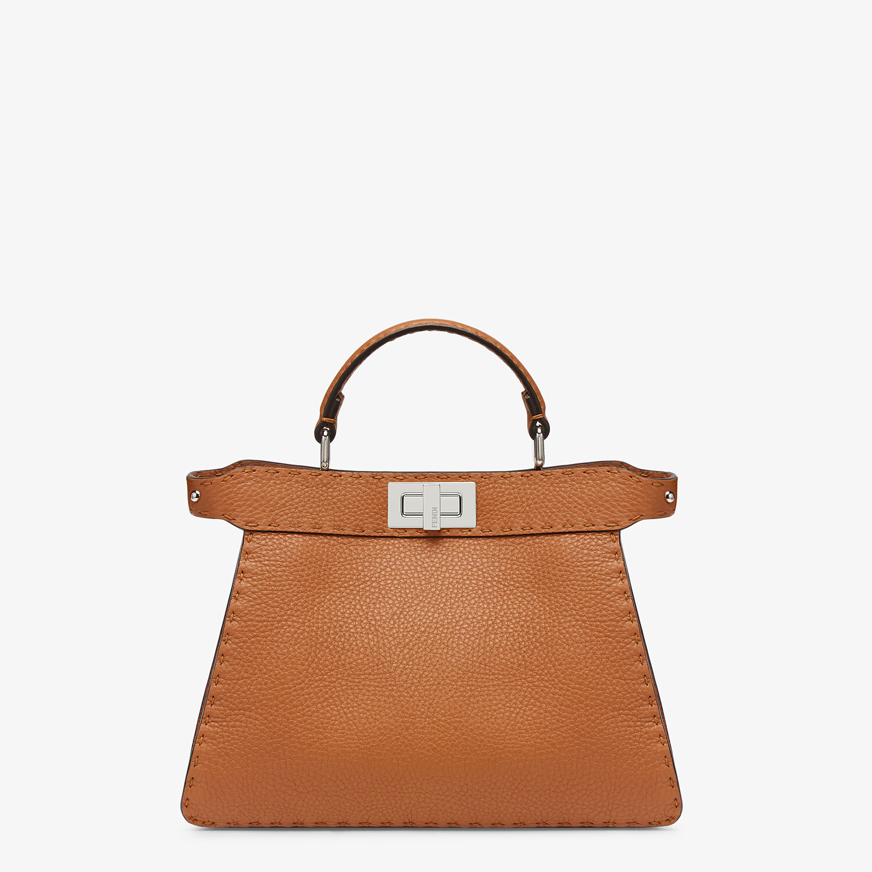 FENDI PEEKABOO I SEEU SMALL - Brown Selleria bag - view 1 detail