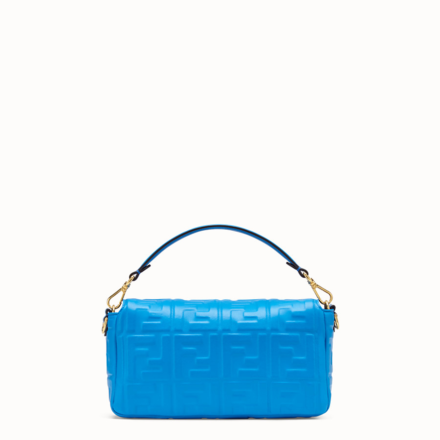 FENDI BAGUETTE - Blue leather bag - view 4 detail
