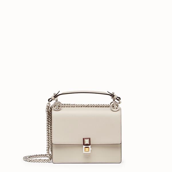 FENDI KAN I SMALL - Mini-bag in powder grey leather - view 1 small thumbnail