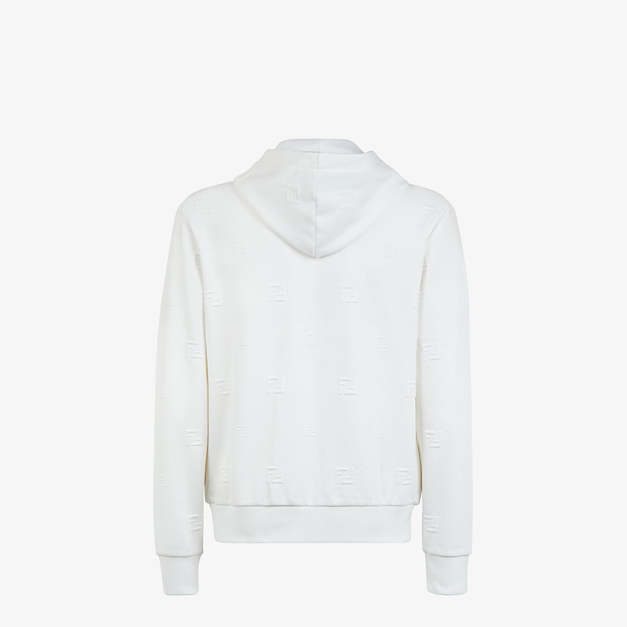FENDI SWEATSHIRT - White jersey sweatshirt - view 2 detail