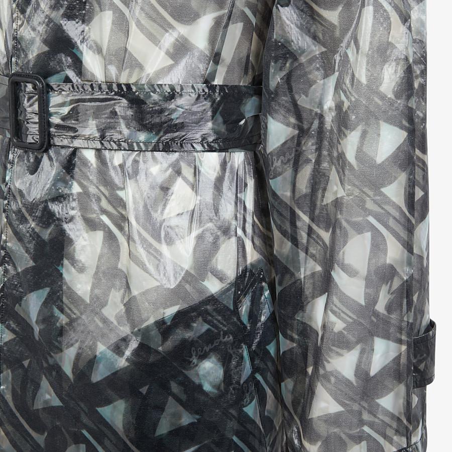 FENDI TRENCH COAT - Gray organza trench coat - view 3 detail