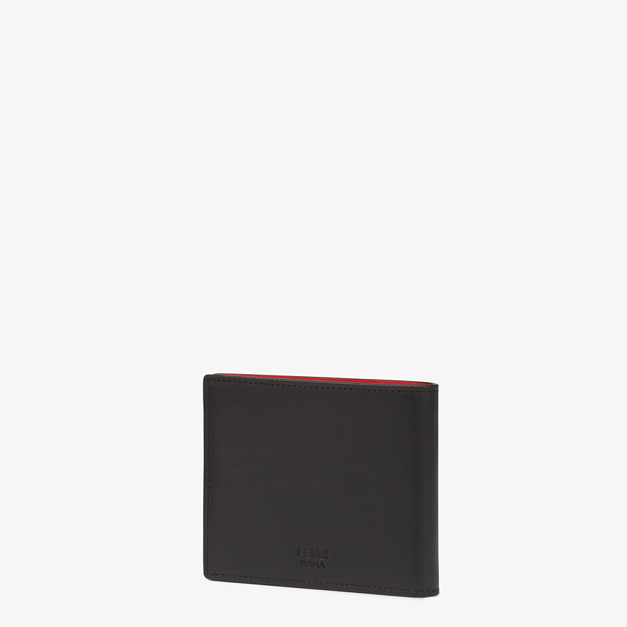 FENDI WALLET - Black leather horizontal wallet - view 2 detail