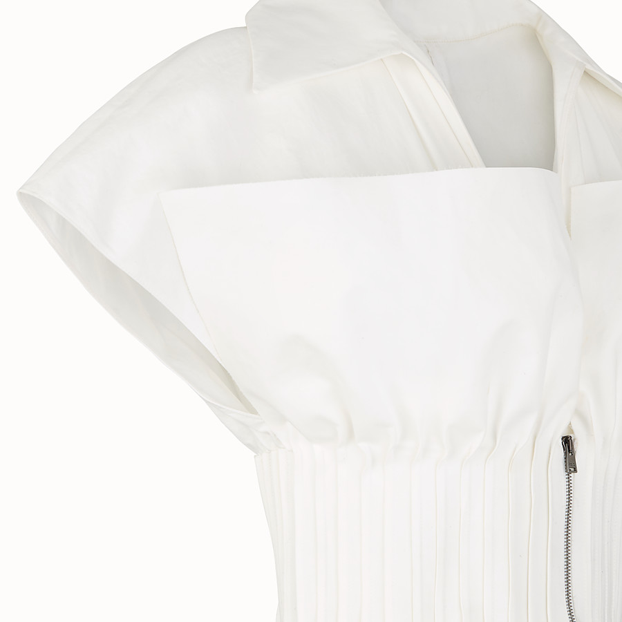 FENDI DRESS - White cotton dress - view 3 detail
