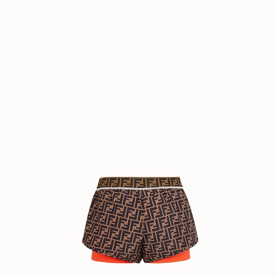 FENDI SHORTS - Multicolor fabric shorts - view 2 detail