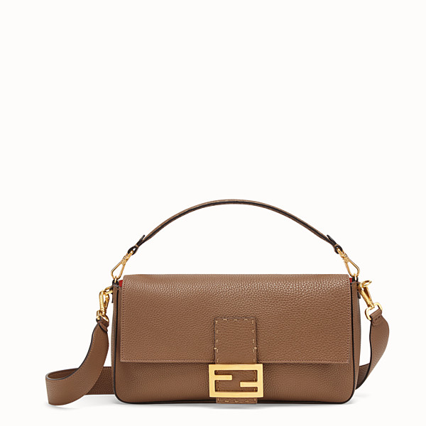 FENDI BAGUETTE LARGE - Brown leather bag - view 1 small thumbnail