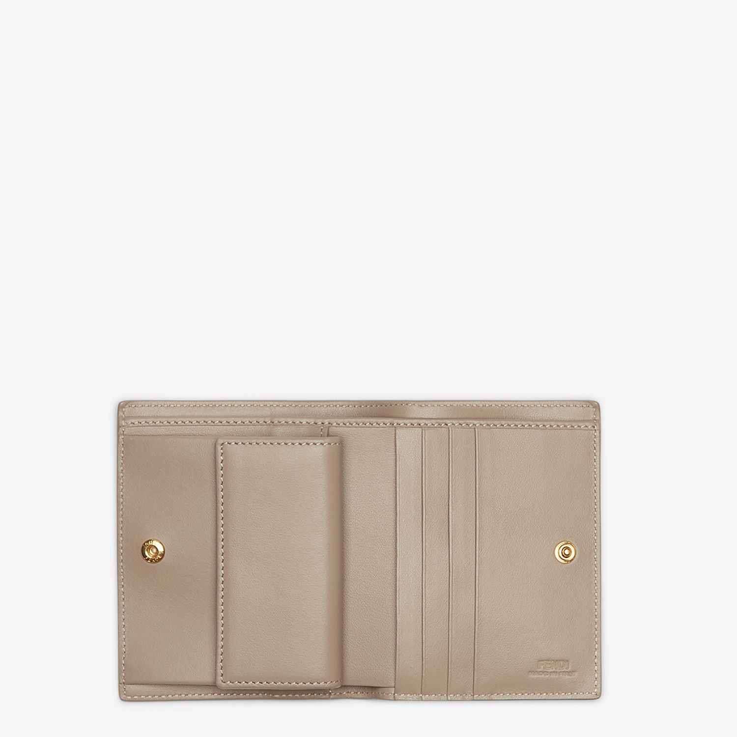 FENDI BIFOLD - Beige compact leather wallet - view 4 detail