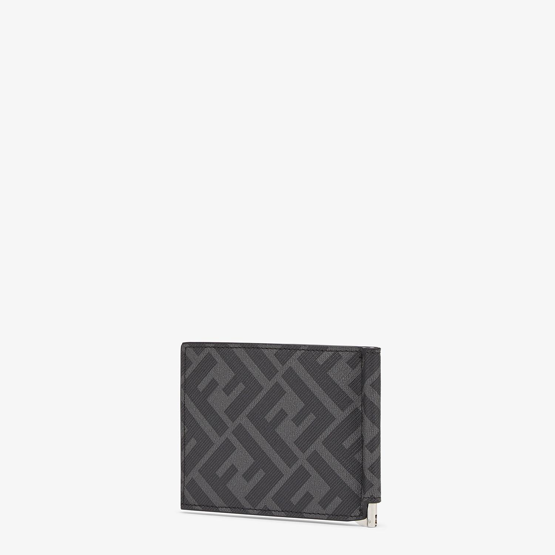 FENDI CARD HOLDER - Gray fabric bill clip - view 2 detail