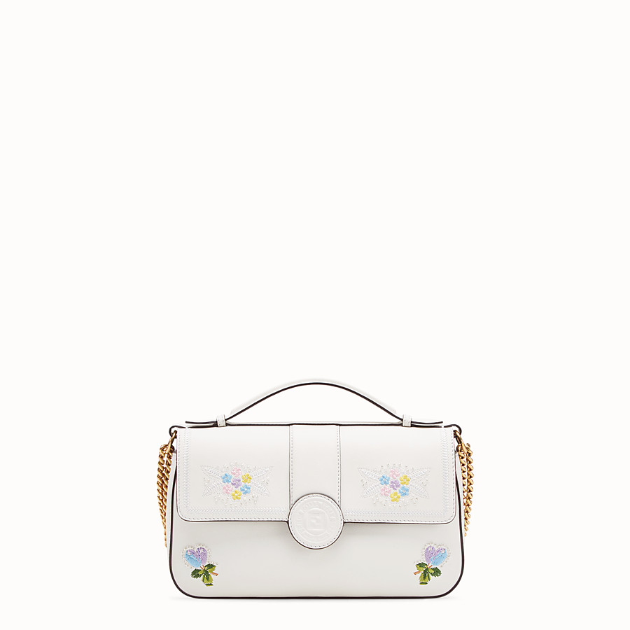 FENDI DOUBLE F - White leather bag - view 3 detail