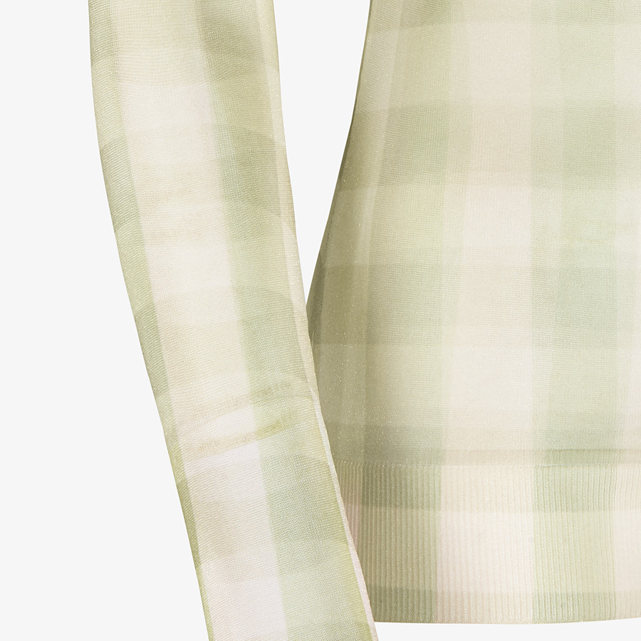 FENDI SWEATER - Check nylon sweater - view 3 detail