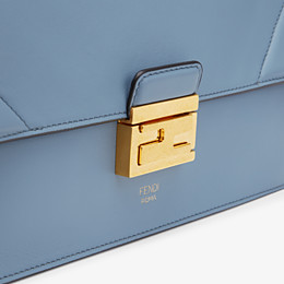 FENDI KAN U - Light blue leather bag - view 6 thumbnail