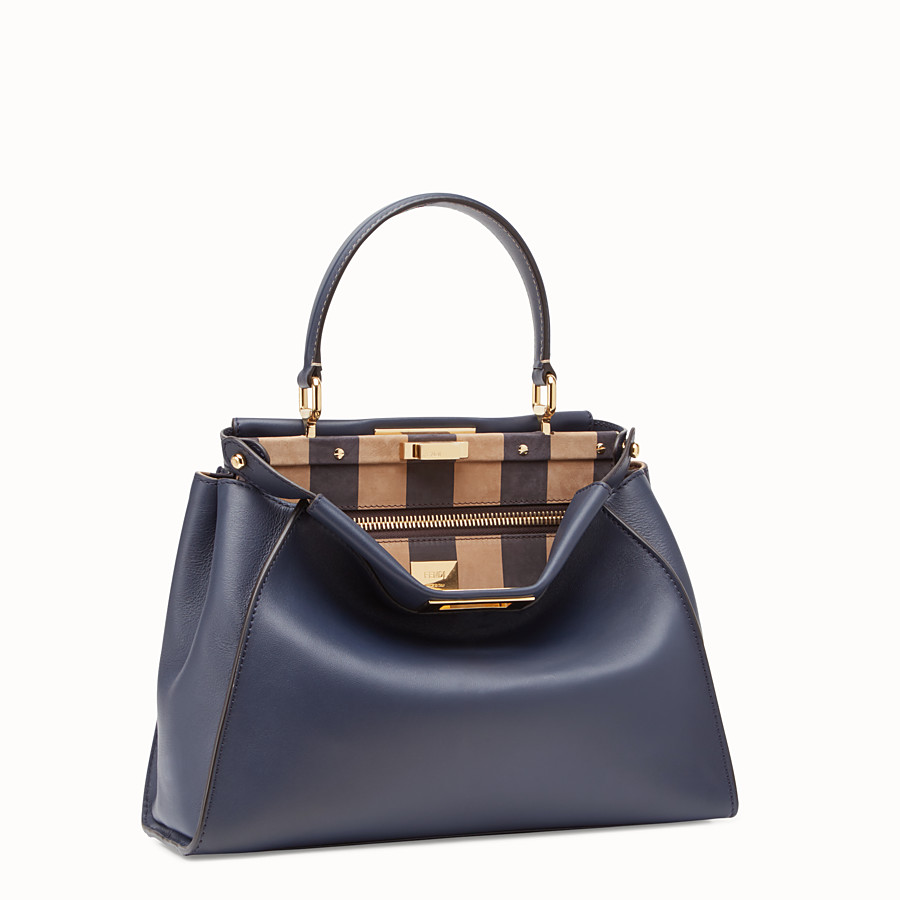 FENDI PEEKABOO ICONIC MEDIUM - Borsa in pelle blu - vista 2 dettaglio