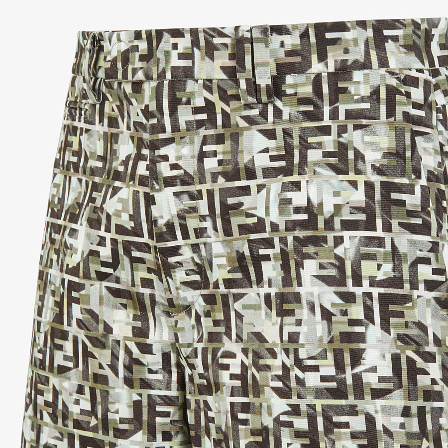 FENDI TROUSERS - Multicolour cotton Bermudas - view 3 detail