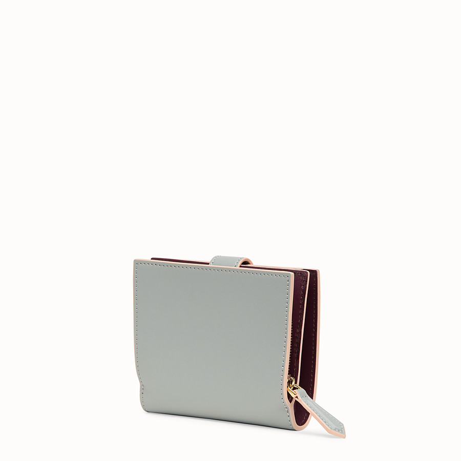 FENDI BIFOLD - Grey compact leather wallet - view 2 detail