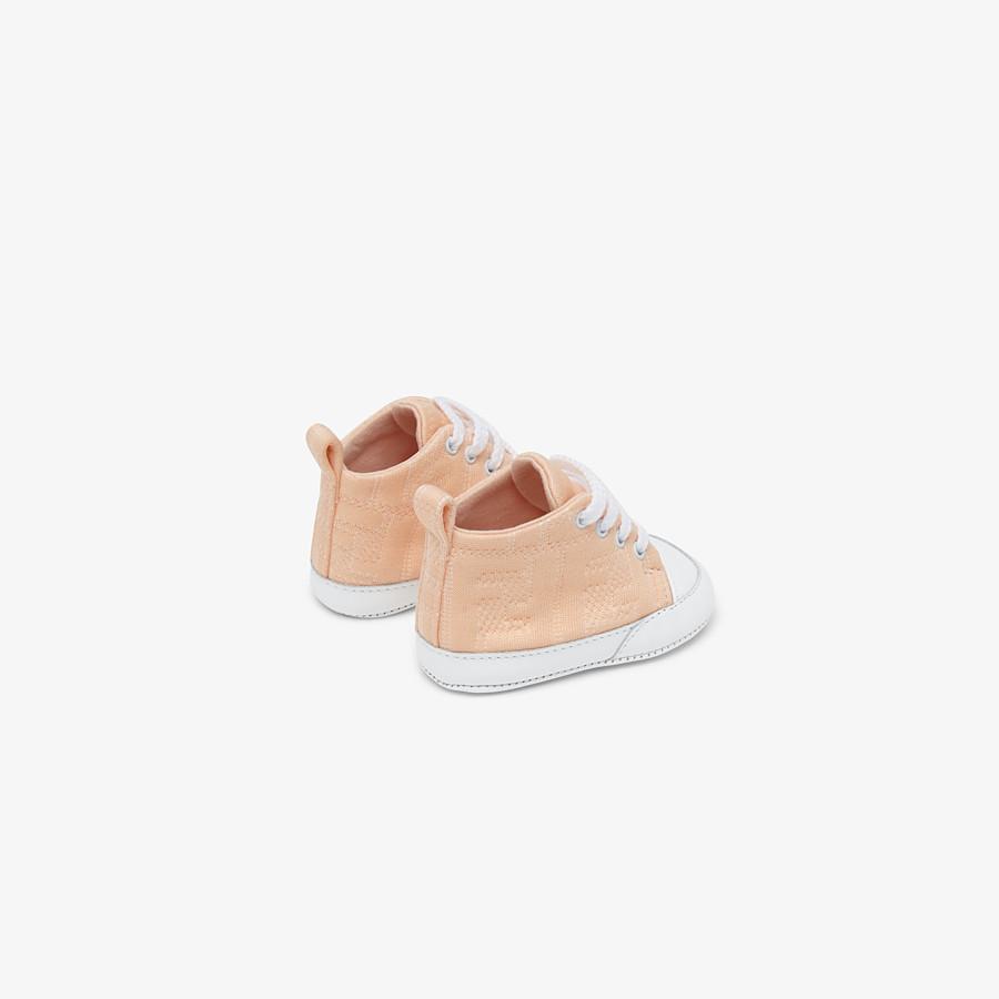 FENDI SNEAKERS - Marzipan colour cotton baby sneakers - view 2 detail