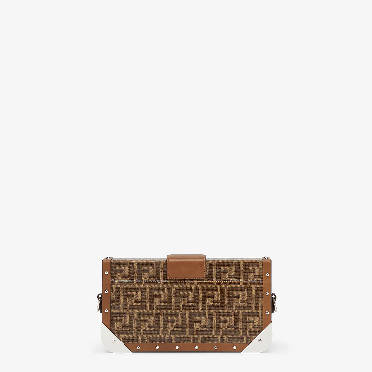 FENDI BAGUETTE TRUNK MEDIUM - Brown fabric bag - view 3 detail